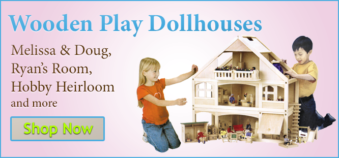Wooden Play Dollhouses and Furniture